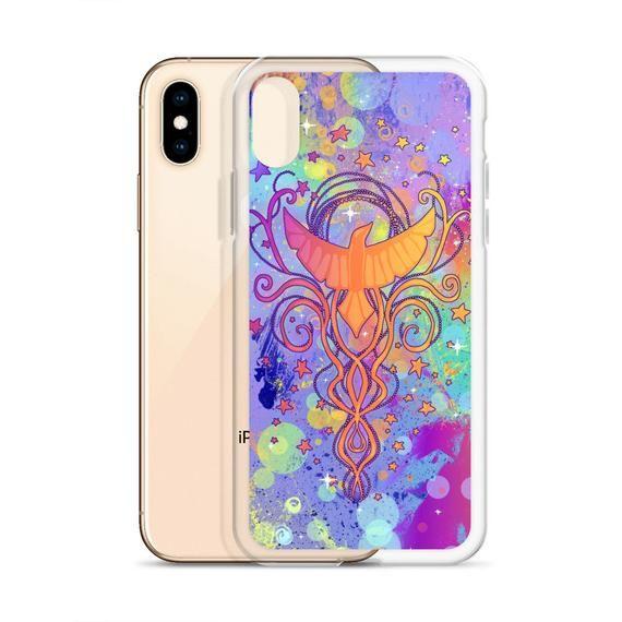 06bd81e234d6f Rainbow Phoenix case for iPhone, Sparkle, Pastel Colors, Colorful ...
