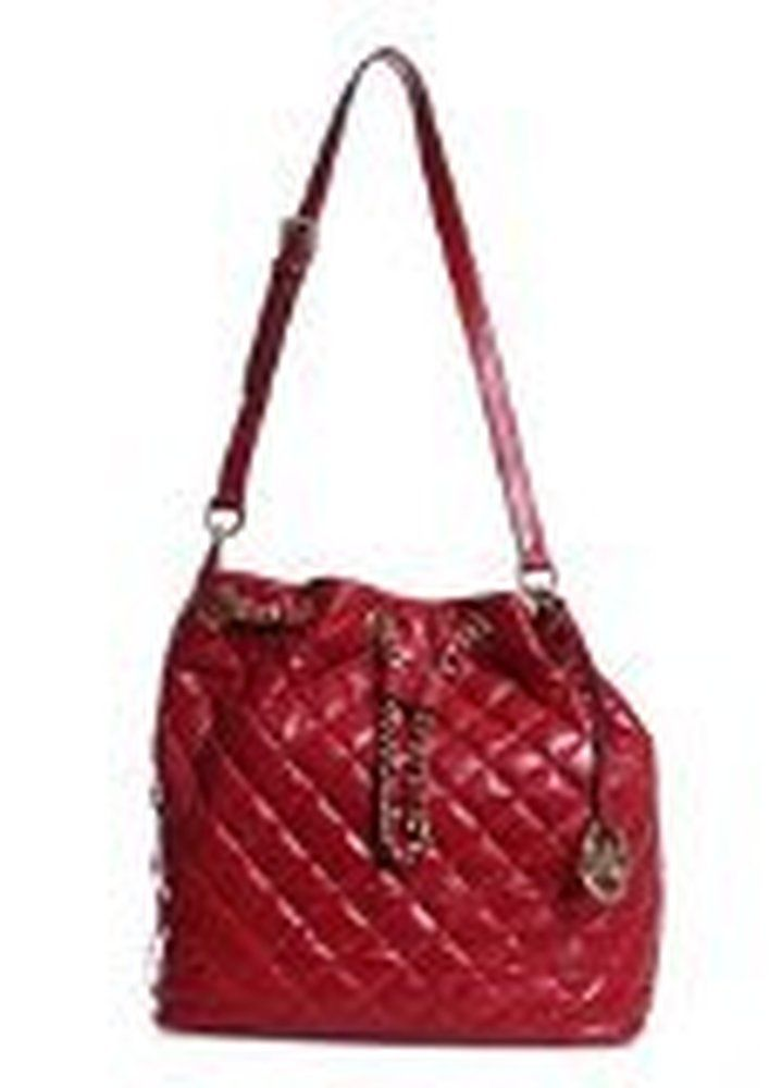 98acbffc8b16 MICHAEL Michael Kors Frankie Quilted Large Convertible Shoulder Bag (Dark  Red)