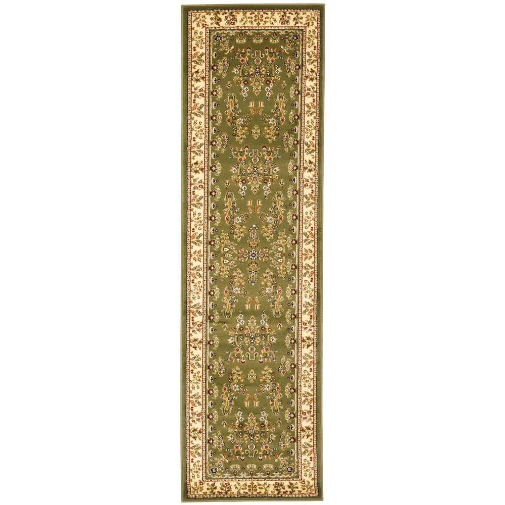 Safavieh Lyndhurst Ivory Red 2 Ft X 6 Ft Runner Rug Lnh331a 26 The Home Depot Oriental Runners Traditional Area Rugs Lyndhurst