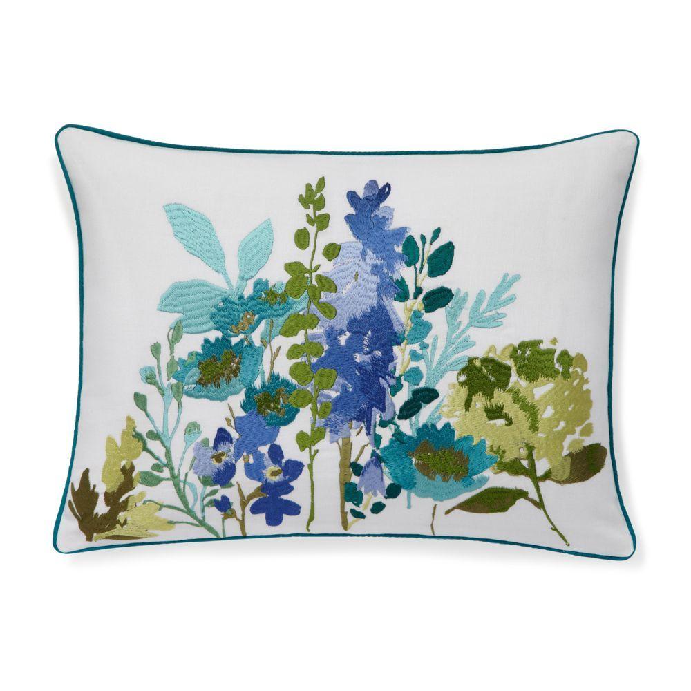 "bluebellgray Cameron Tetubury Herb Embroidery Decorative Pillow, 12"" x 16"""