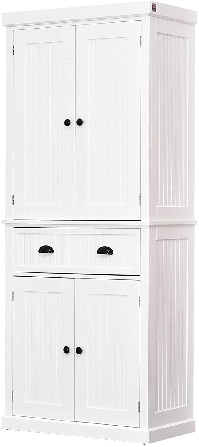 20++ Homcom 69 wood free standing bathroom linen tower storage cabinet custom