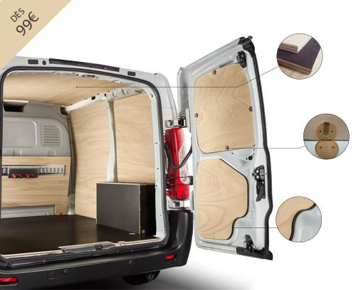 kit d 39 habillage bois pour v hicules utilitaires gamme natual habillage bois utilitaire. Black Bedroom Furniture Sets. Home Design Ideas