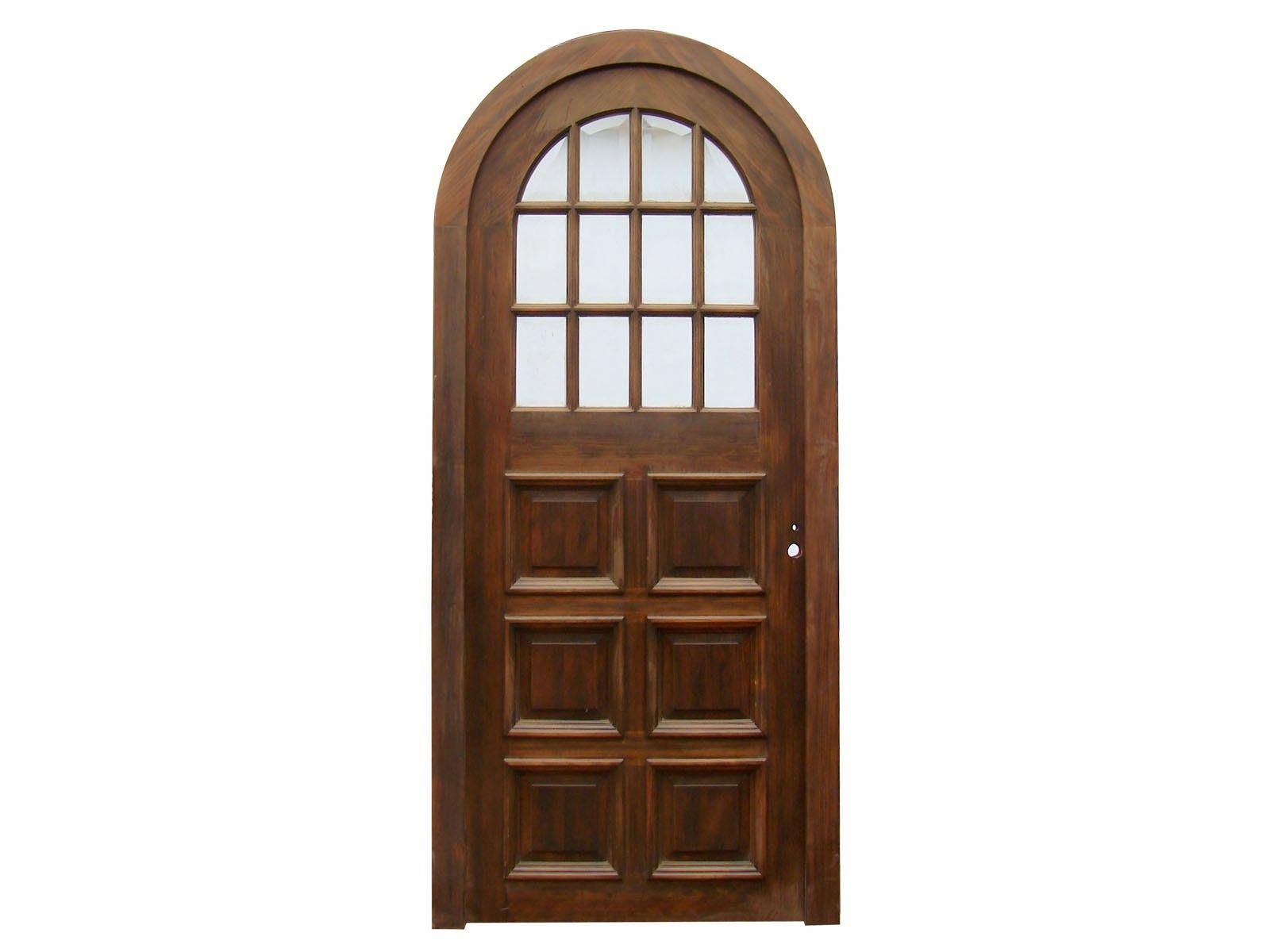Arched Single Front Door With Beveled Glasses C Frontdoor Front Door Green House Design Smart Door Locks