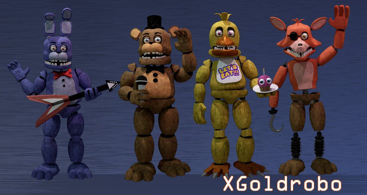 Fnaf 2 Un-withered Animatronics by Michael-V | Five Nights