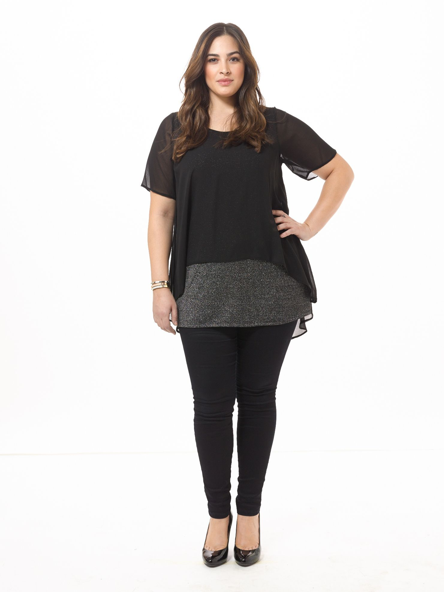 61efb0c0266 Lurex Layer Top by Evans, Available in sizes 10/12,14/16,18/20, 22/24 and  26/28
