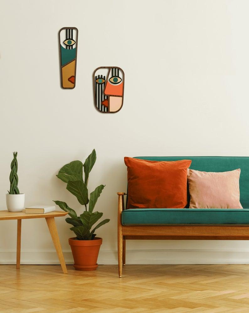 Decorative Mask Living Room Wall Decor Pop Art Wood Wall Etsy In 2020 Small Wall Decor Wall Decor Living Room Decor #pop #art #living #room