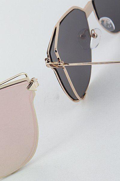 ad52c48ec5816 Lexi Cat Eye Reflective Sunglasses  JessLeaBoutique