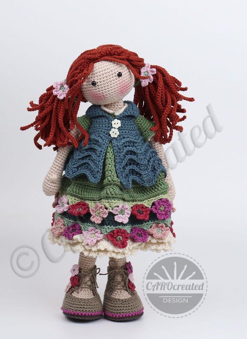 Crochet Pattern for Doll ESJA, pdf (Deutsch, English, Français, Nederlands, Español, Italiano)