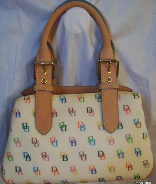 Dooney Bourke Small White Handbag Purse Db Euc Leather