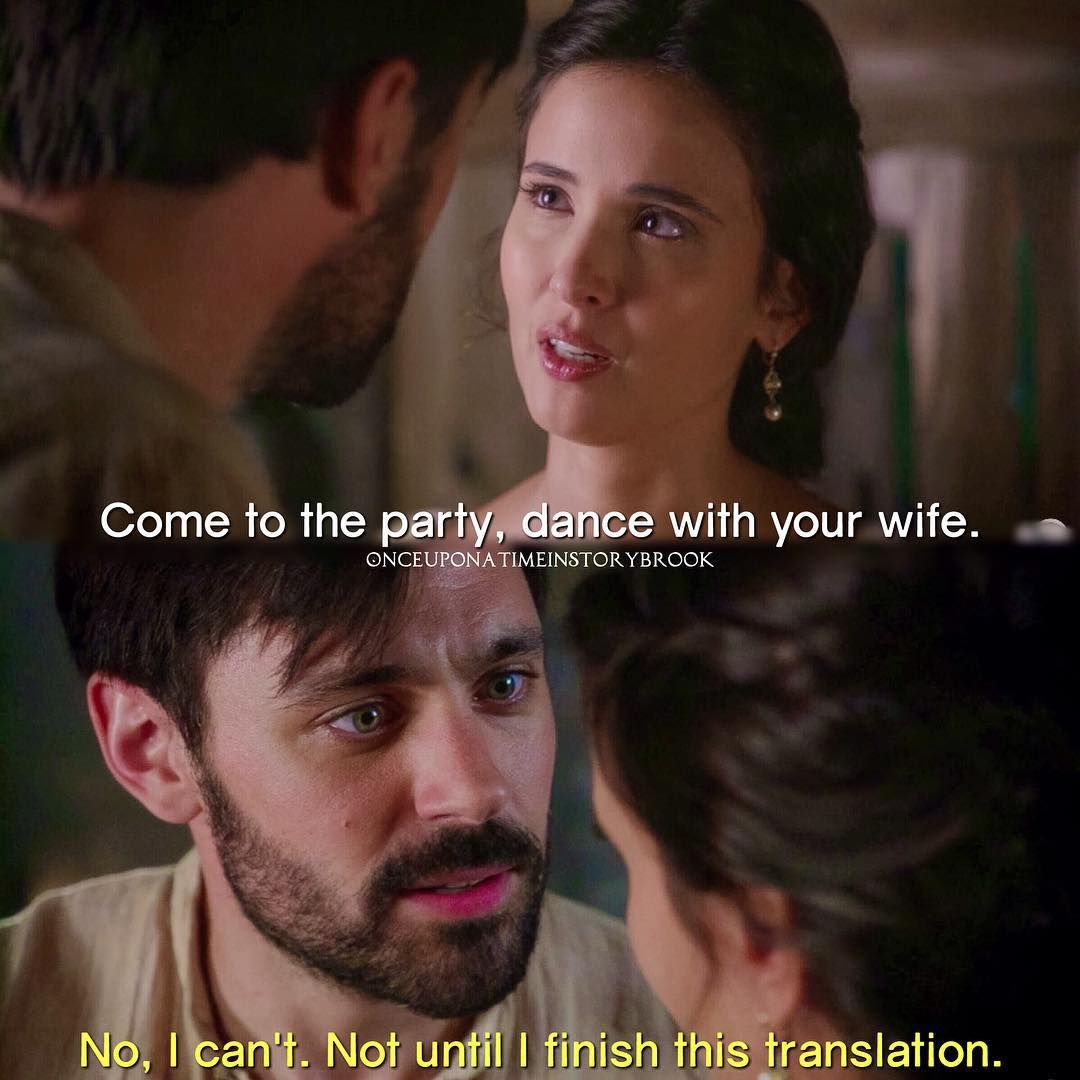 """""""Not until I finish this translation"""" - Arthur and Guinevere #OnceUponATime"""