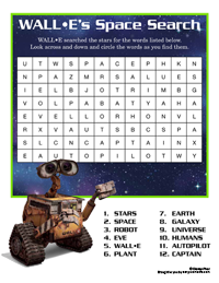 Free Printables, Downloads, and Activities to Disney's Animated Film Wall-E…