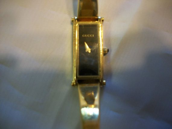 Authentic Vintage Gucci Watch by GrannyPackRats on Etsy