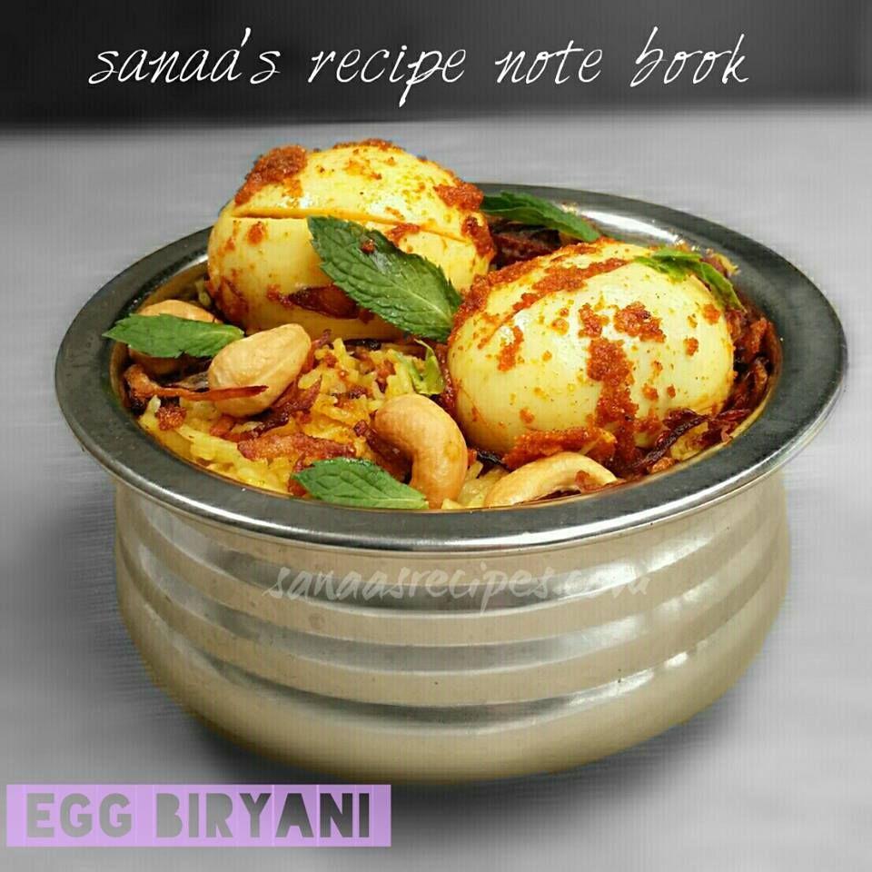 Egg biryani sanaas recipe note book original