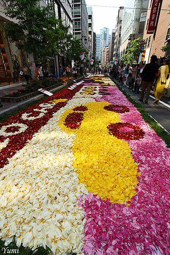 flower carpet, Tokyo, Japan