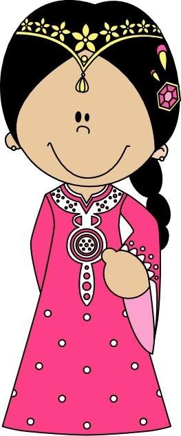 Princess in kaftan.