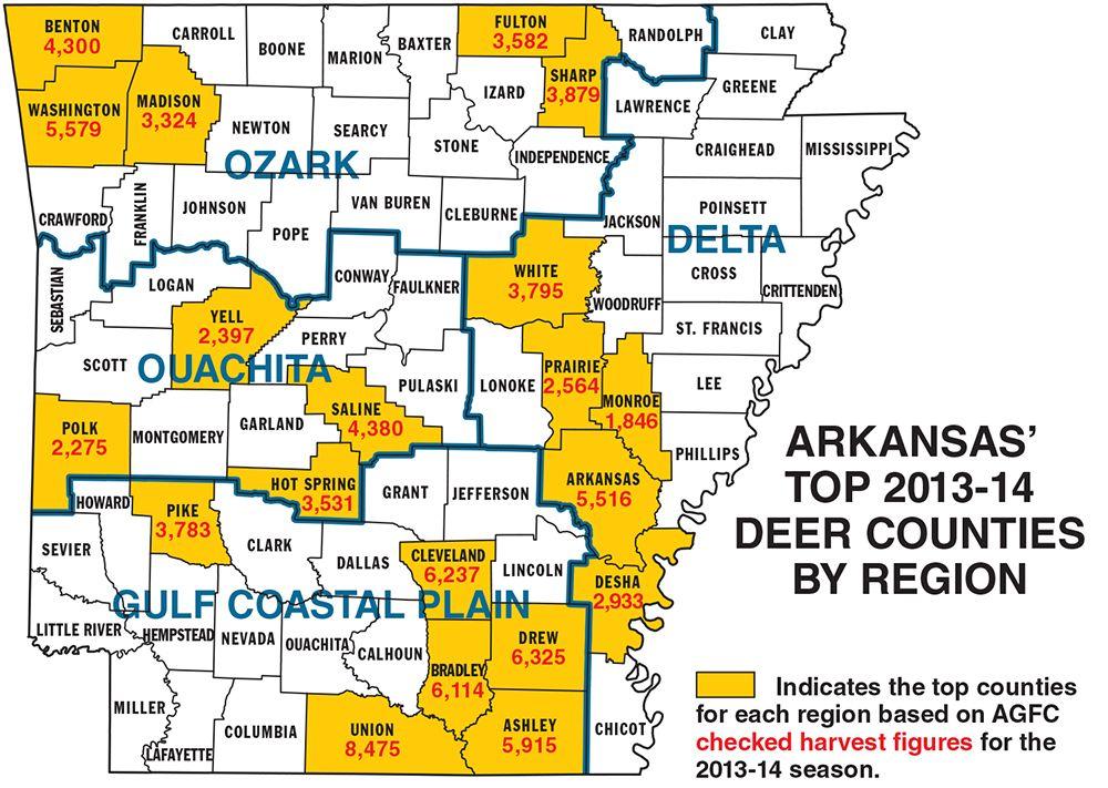 Arkansas Deer Hunting Forecast for 2014 Deer hunting