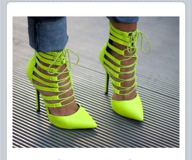Neon heels
