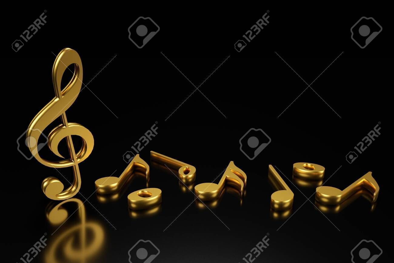Treble Clef And Music Notation 3d Rendering Affiliate