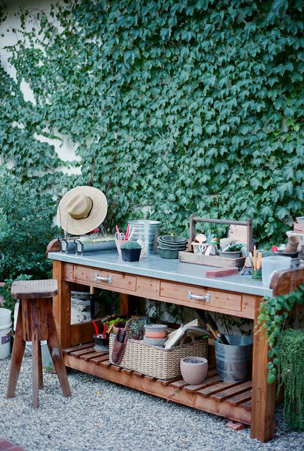 potting bench outdoor kitchen inspiration potting table garden solutions outdoor bbq kitchen on zink outdoor kitchen id=49785