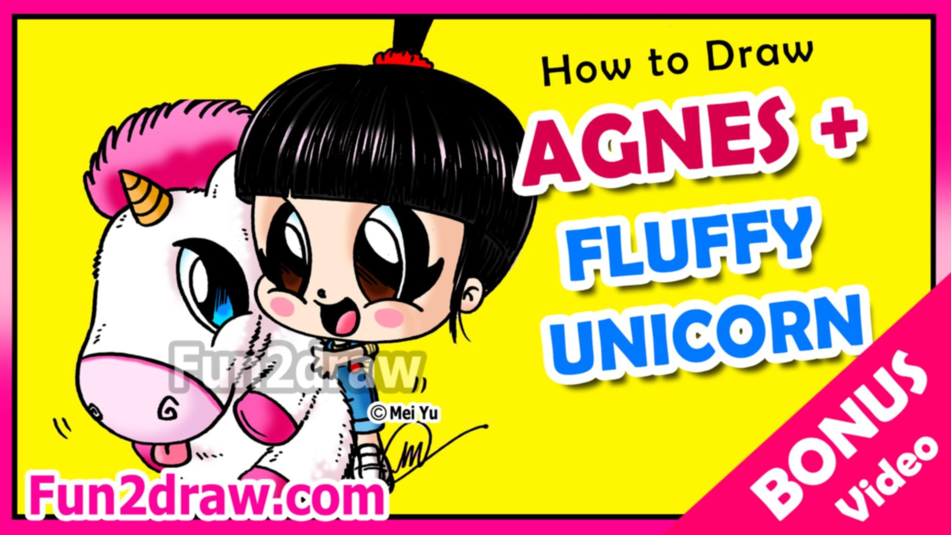 Despicable Me Agnes Unicorn Cake