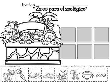 Letra Z Silabas Za Ze Zi Zo Zu Spanish Resources Zoo Animals Activities