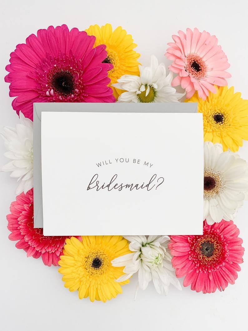 Bridesmaid proposal card will you be my bridesmaid simple