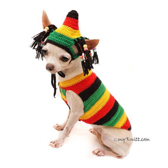 Bob Marley Dog Costumes, Rastafarian Hat, Rasta Hat, Rasta Beanie ...