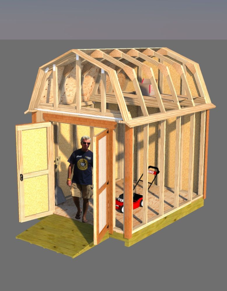 Small Barn Plans 8x10 Barn Shed Plans Shed Plans Small Shed