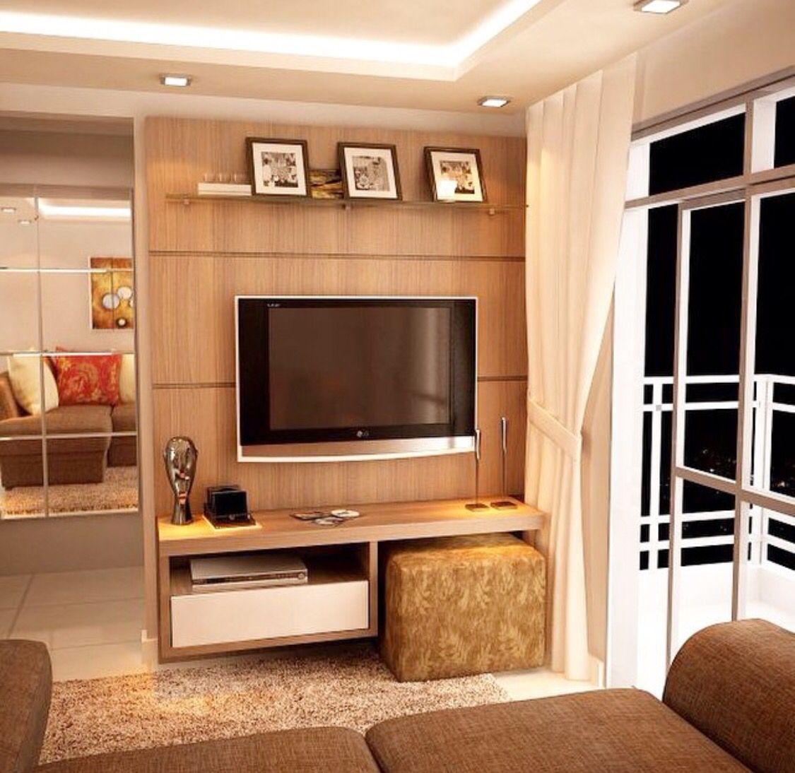 Sala pequena casa for Cortinas departamentos pequenos