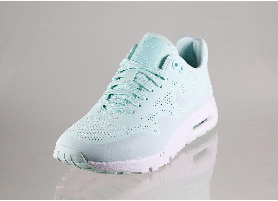 Nike Wmns Air Max 1 Blanc Ultra Moire Farbe / Fibre De Verre