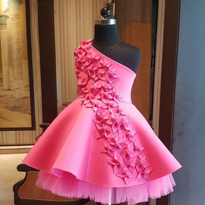 Pink blooming flower dress Online For Kids - Curious Village