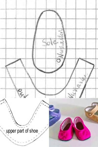 Free Printable for Doll Shoe Pattern 18 - Bing images | Doll clothes ...