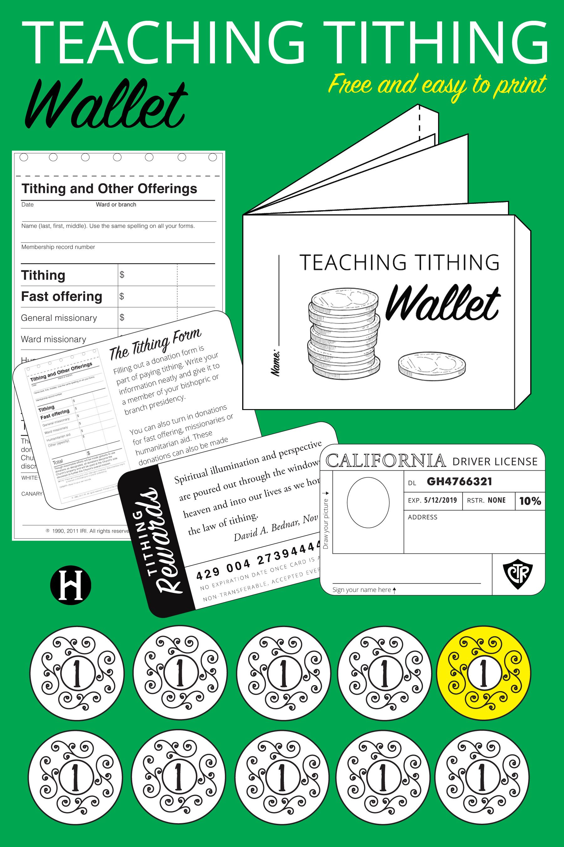 Teaching Tithing Wallet Printable The Mormon Home The