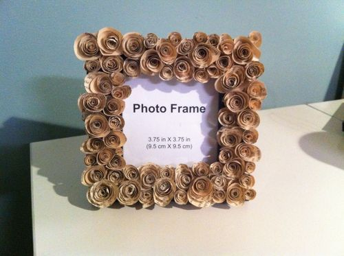 ROSE FRAME FROM PAGES FROM A BOOK