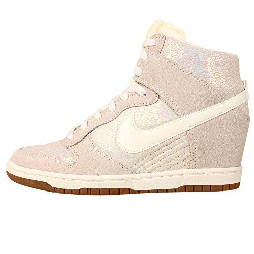 Nike Womens Dunk Sky Hi PRM Metallic Luster Sail Gum Brown