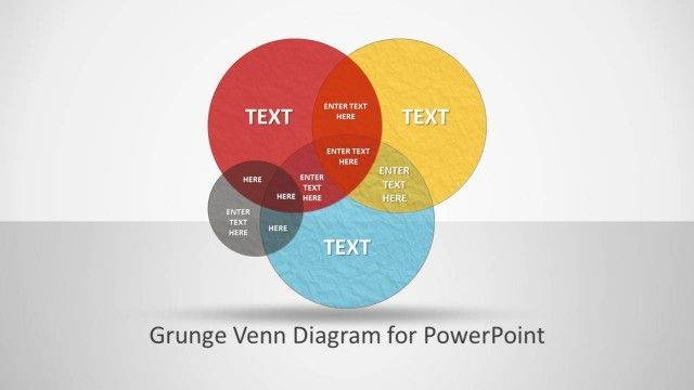 Grunge Venn Diagram For Powerpoint Office Program Ppt