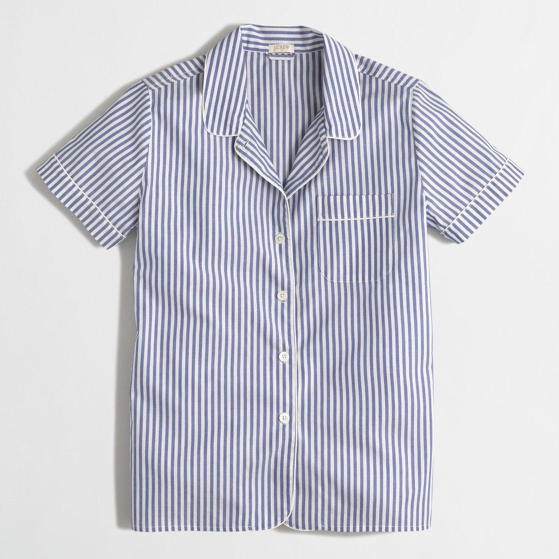 e24370e11 Striped short-sleeve pajama shirt   FactoryWomen Pajamas