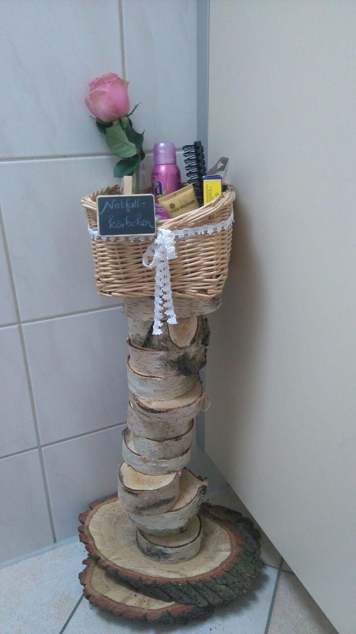 DIY Notfallkorb für die Damentoilette (mit Bildern