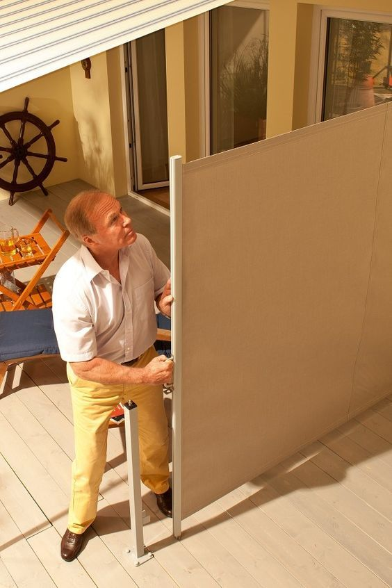 Retractable Fabric Privacy Wall For Your Patio Patio