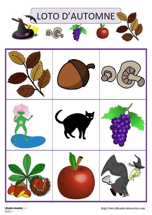 Deux jeux de loto 15 images ou 30 images sur le th me de - Fruits automne maternelle ...