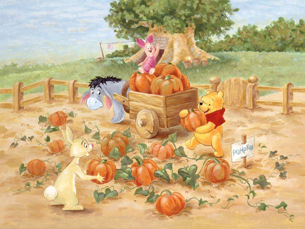 Free Holiday Wallpapers November 2011 Winnie The Pooh Pictures Winnie The Pooh Friends Winnie The Pooh Pumpkin