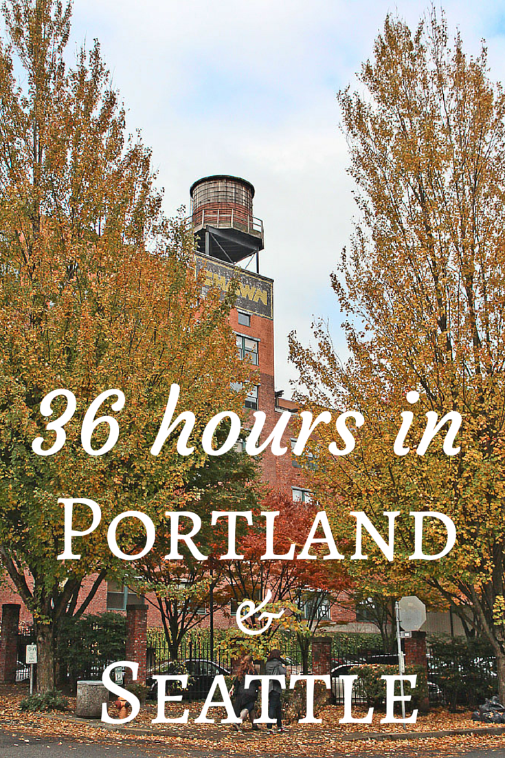 This itinerary for Portland OR and Seattle