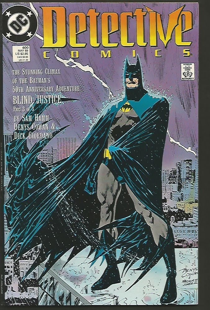Detective Comics 600 High Grade Vf Range Or Better Double Sized 1989 Hamm Cowan Batman Detective Comics Batman Detective Dark Knight Comics