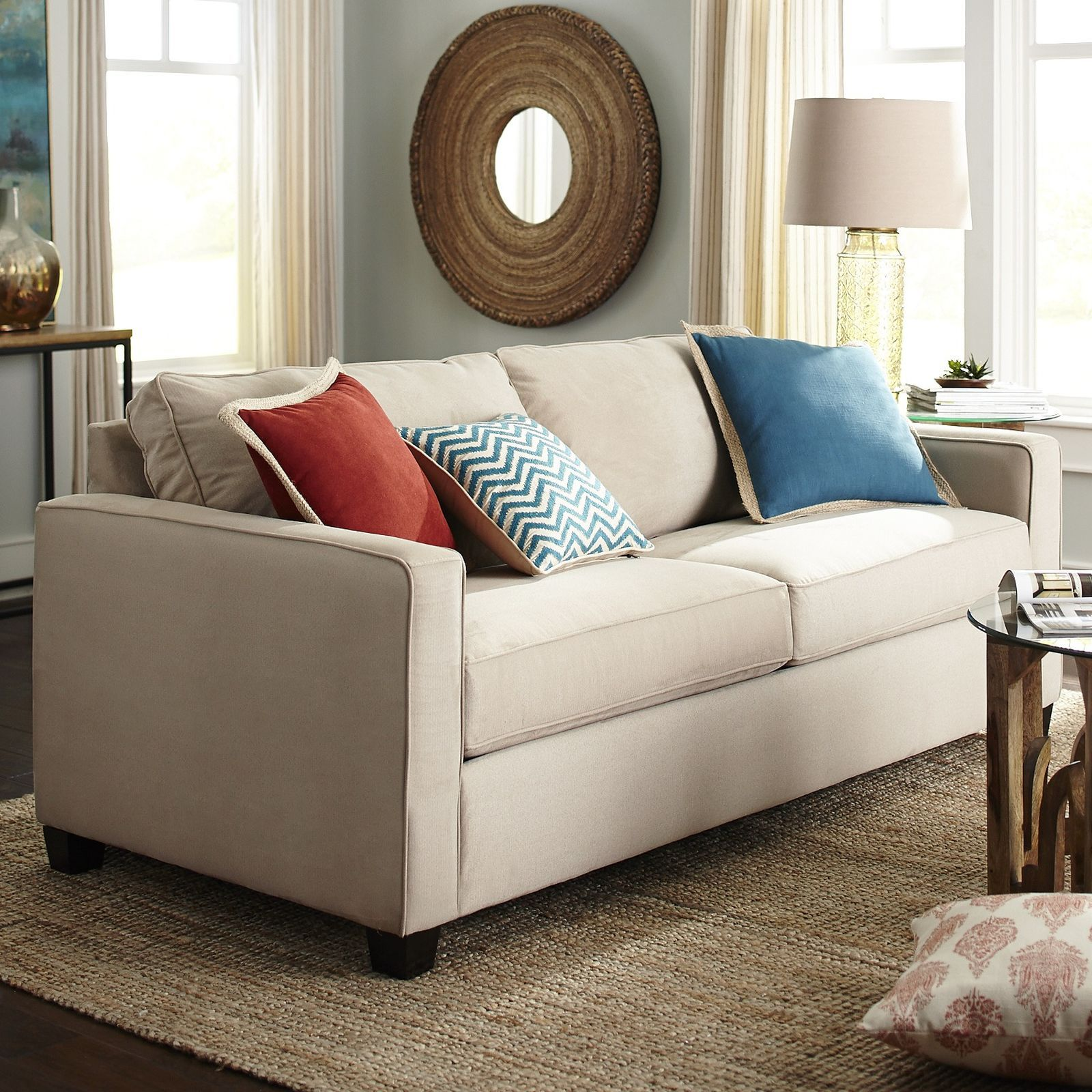 Alton Ecru Track Arm Sleeper Sofa