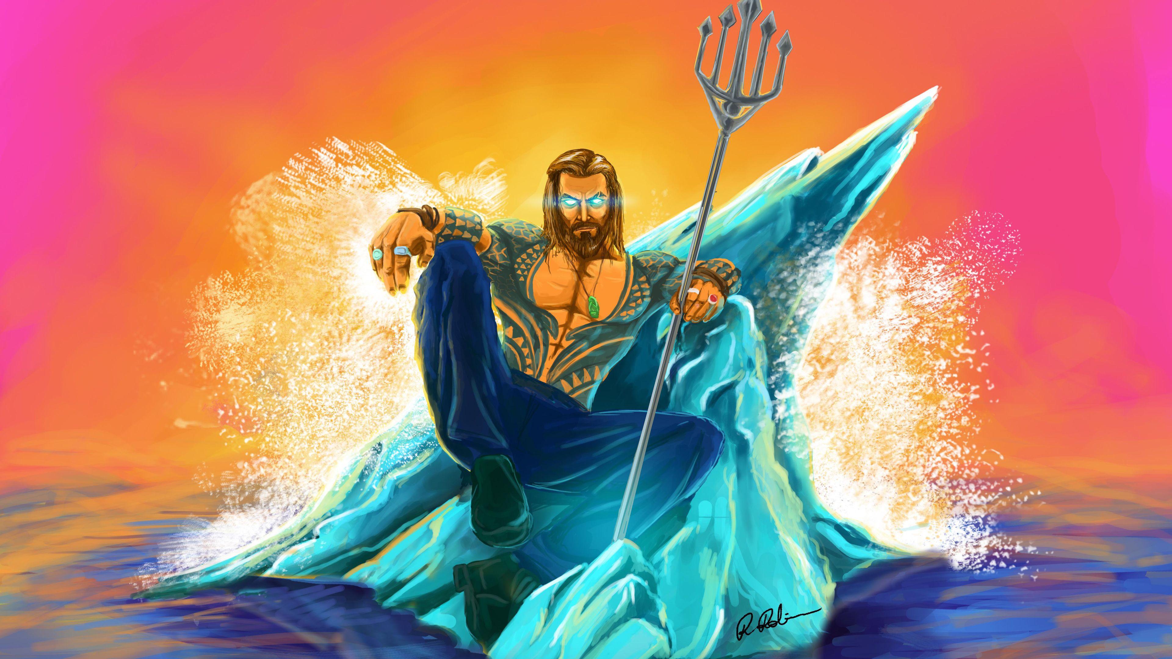 Aquaman Arts 4k Superheroes Wallpapers Hd Wallpapers