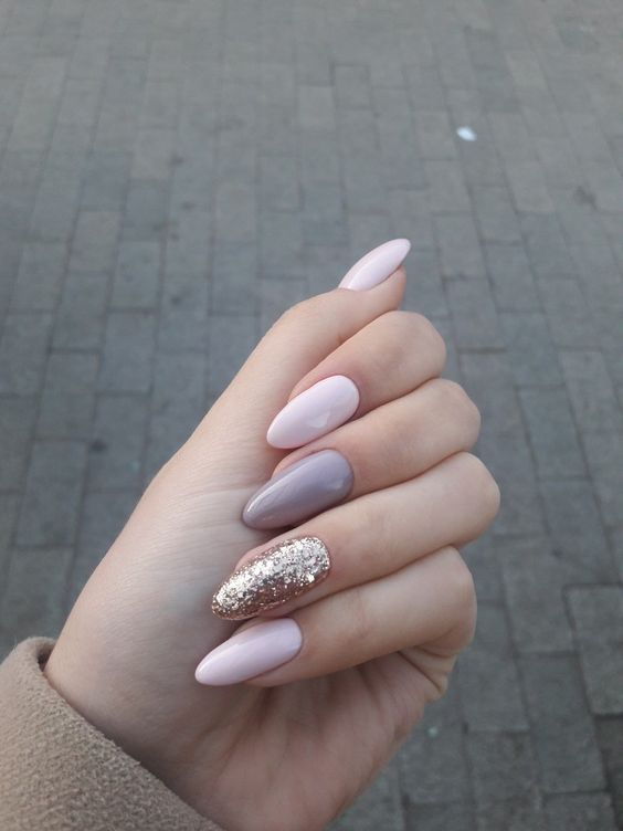50 Creative And Newest Acrylic Nails Designs For Winter Holiday 2019 Almond Nails Designs Acrylic Nail Designs Trendy Nails