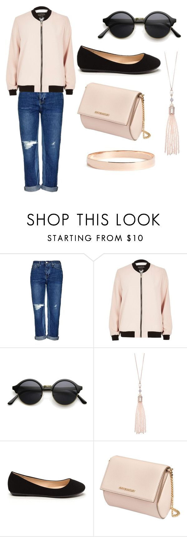 """""""Untitled #105"""" by tiger123456789 ❤ liked on Polyvore featuring Topshop, River Island, Oasis, Givenchy and Lana Jewelry"""