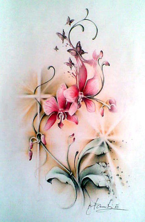 orchid flowers tattoos and piercings pinterest. Black Bedroom Furniture Sets. Home Design Ideas