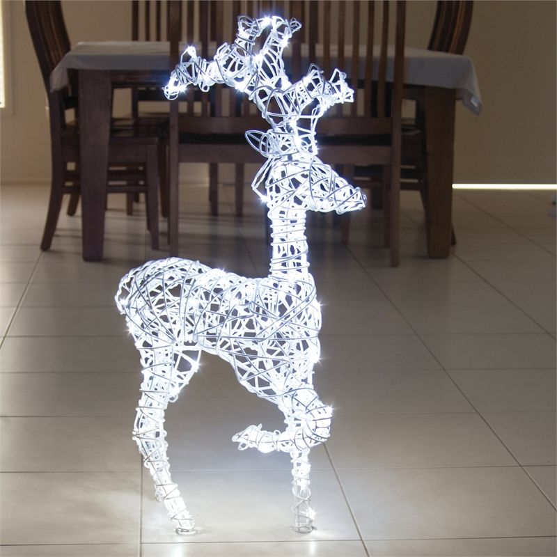 Find Lytworx 160 LED White Festive Kicking Reindeer Light
