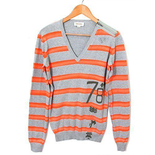 DIESEL pull en maille K-JOVEN hommes Gris orange - S Pour en savoir + suivez ce lien : https://www.pifmarket.com/boutique/mode-et-beaute/diesel-pull-en-maille-k-joven-hommes-gris-orange-s/